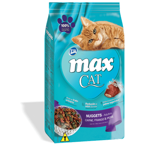 Ração Max Cat Nuggets – 3Kg _ Total 3Kg