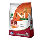 Ração N&D Pumpkin para Cães Adultos Raças Média Sabor Frango, Abóbora e Romã - 10,1kg