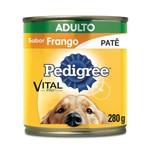 Ração Pedigree Lata Patê de Frango para Cães Adultos - 280 G