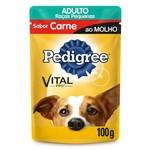 Ração Pedigree Sachê Carne ao Molho Cães Adultos de Raças Pequenas