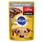Ração Pedigree Sachê Carne ao Molho para Cães Adultos com 7 Anos ou Mais