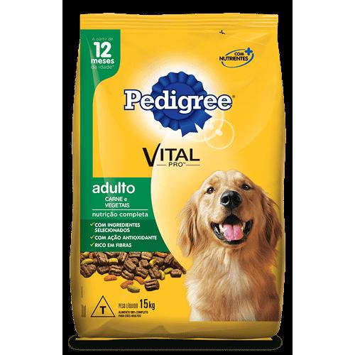 Ração Pedigree Vital Pro Carne e Vegetais para Cães Adultos 15kg