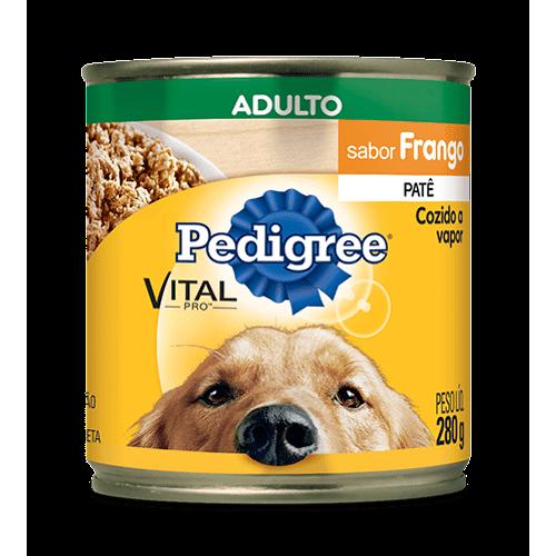 Ração Pedigree Vital Pro Patê de Frango Lata para Cães Adultos - 280g 280g