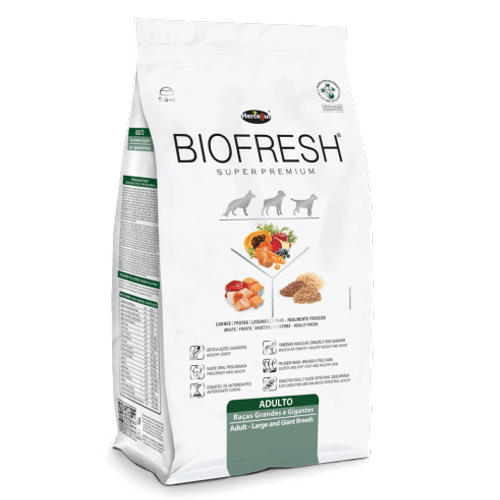 Ração Super Premium Hercosul Biofresh para Cães Adultos de Raças Grandes e Gigantes 12kg