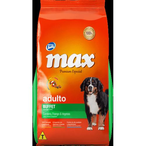 Ração Total Max Buffet Cordeiro, Frango e Arroz para Cães Adultos 15kg