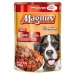 Ração Úmida Magnus Sabor Carne ao Molho Leve 12 Pague 10 para Cães Adultos Unidade