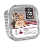 Ração Úmida Three Cats Patê Paladar Exigente Patê Sabor Carne para Gatos - 90g