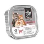 Ração Úmida Three Cats Patê Sabor Frango para Gatos Castrados - 90g