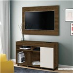 Rack com Painel para TV Até 40 Polegadas 1 Porta Vision EDN Móveis Nogal Rústico/Off White