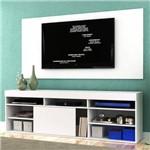 Rack com Painel para TV Até 55 Polegadas 1 Porta Montreal Evidência Móveis Branco