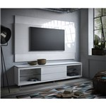 Rack Dely com Painel, 2,20cm, para TV Até 60 Polegadas, Branco Gloss, Dallas