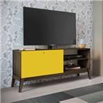 Rack para Tv C/ Porta de Correr Retrô Fosco/brilho – Genialflex - Demolição / Amarelo