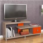 Rack para Tv de 32'''' com 1 Gaveta - Rústico/laranja