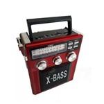 Rádio Analógico Am Fm Aux Karaokê Lanterna Bateria Bivolt