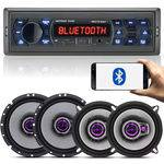 Rádio Mp3 Bluetooth Multilaser + 04 Falante Pioneer 5 e 6 Triaxial