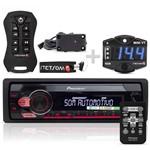 Rádio Mp3 Pioneer Mvh-s118ui + Controle Stetsom Sx2 + Mini Voltimetro