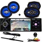 Rádio Mp5 Automotivo Bluetooth + Camera de Ré Falante 6 e 6x9