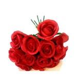 Ramo de Rosas Artificial Vermelha- Unidade