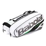 Raqueteira Babolat Pure X6 Wimbledon Branca e Verde