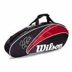 Raqueteira Wilson Esp Federer 3 Pack - Preta e Vermelha