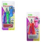 Rasqueadeira / Alicate / Brinquedo Pet 3 Pecas na Cartela