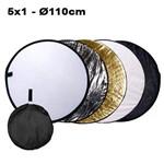 Rebatedor e Difusor Circular 5x1 para Estúdio - 110cm