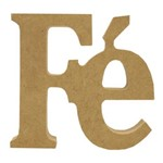 Recorte Enfeite de Mesa Fé 1x1cm - Madeira Mdf