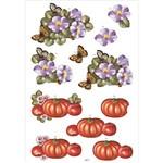 Recortes para Scrapdecor 3d Abóbora e Papoulas Dc17- Toke e Crie