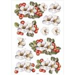 Recortes para Scrapdecor 3d Cerejas e Hibisco Dc15- Toke e Crie