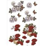 Recortes para Scrapdecor 3D Rosas Brancas e Papoulas DC16 - Toke e Crie