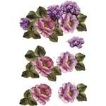 Recortes para Scrapdecor 3D Rosas com Hortênsia DC19 - Toke e Crie