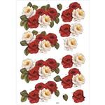Recortes para Scrapdecor 3d Rosas Vermelhas e Brancas Dc21- Toke e Crie