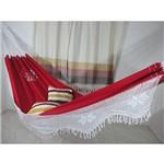 Rede de Dormir e Descanso Sol a Sol Premium Vermelha.