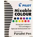 Refil para Caneta Parallel Pen Múltiplas Cores com 12 Unidades Pilot