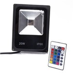 Refletor Led 20W Colorido RGB Prova D'água