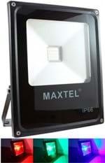 Refletor LED RGB 20W IP66 com Controle Remoto