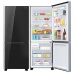 Refrigerador Panasonic Inverter Glass Black 423 Litros Frost Free Bb52