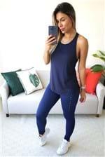 Regata Colcci Fitness com Tule - Azul