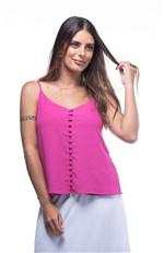 Regata com Botões Forrados Frontais Regata Botoes Frontais Mariella-pink - Gg
