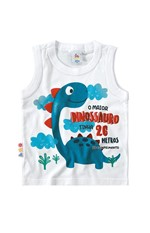 Regata Estampada Dinossauro Menino Zig Zig Zaa Branco - 2