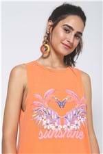 Regata Flamingos Tule Costas Laranja Citrus - P