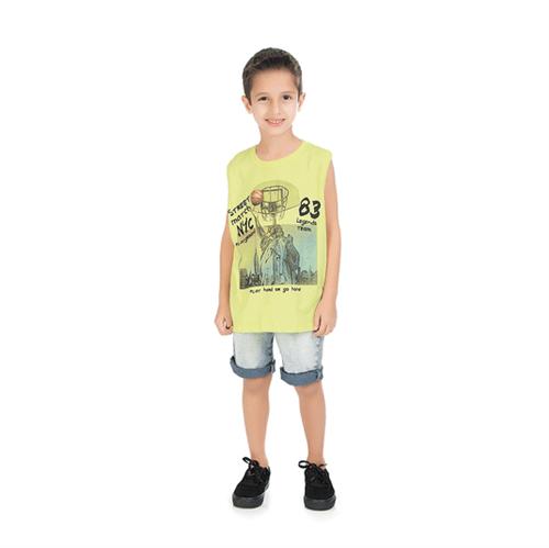 Regata Infantil Abrange Basket Amarelo 04