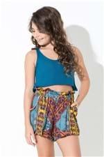 Regata Mini me Tricot Lisa Azul Cuba - PP