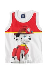 Regata Patrulha Canina® Menino Malwee Kids Branco - 1