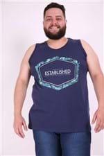 Regata Silk Established Plus Size Azul Marinho P