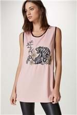 Regata Tigre Pink Estampado - M