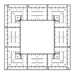 Régua para Patchwork Criativa Toke e Crie RCP001 Quadrada