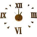 Relógio Adesivo de Parede Gold Uatt? Analógico