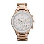 Relógio Armani Exchange Feminino Rose Gold - Uax5107/n
