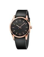 Relógio Calvin Klein com Pulseira de Couro Preto